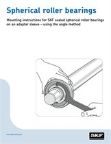 Mounting SKF sealed spherical roller bearings _tcm_12-111237