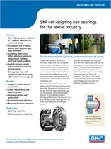 Self-aligning ball bearings for textile industry